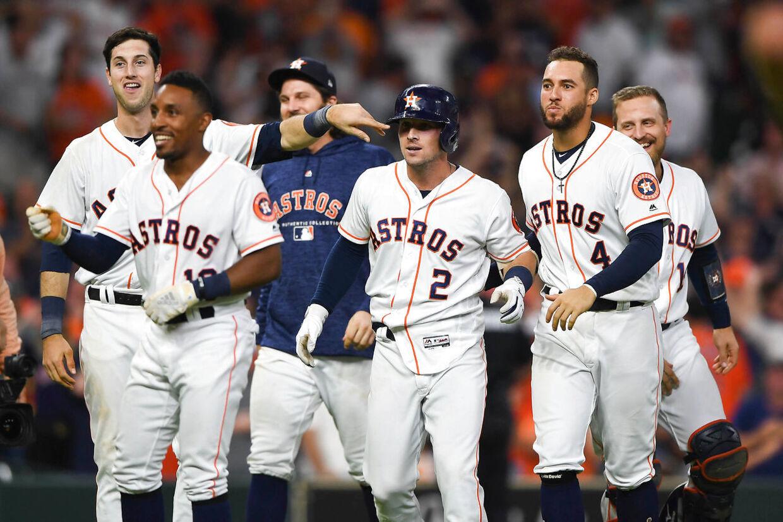 Spillerne på Houston Astros kan i aften opleves på den danske streamingskanal Viaplay.