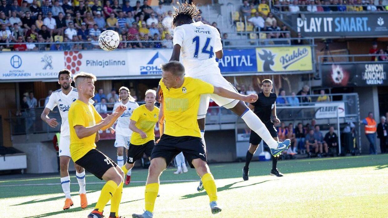Dame N'Doye fik officielt comeback for FCK i Europa League-kvalkampen mod KuPS.