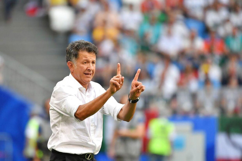 Mexicos landstræner Juan Carlos Osorio undervejs i kampen mod Brasilien.