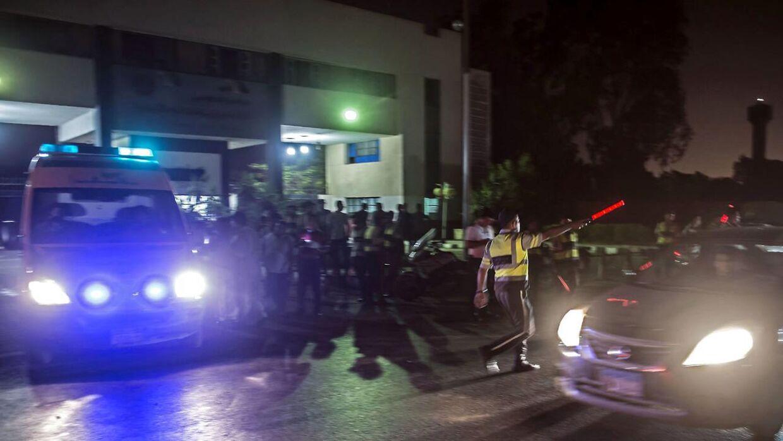 Kairo Lufthavn sent torsdag aften lokal tid kort efter den voldsomme eksplosion. Den 12. juli.