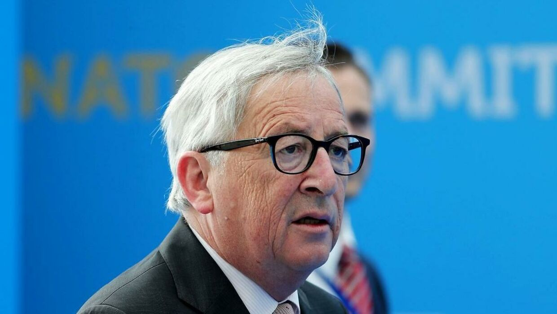 Her ses Jean-Claude Juncker til NATO-mødet.