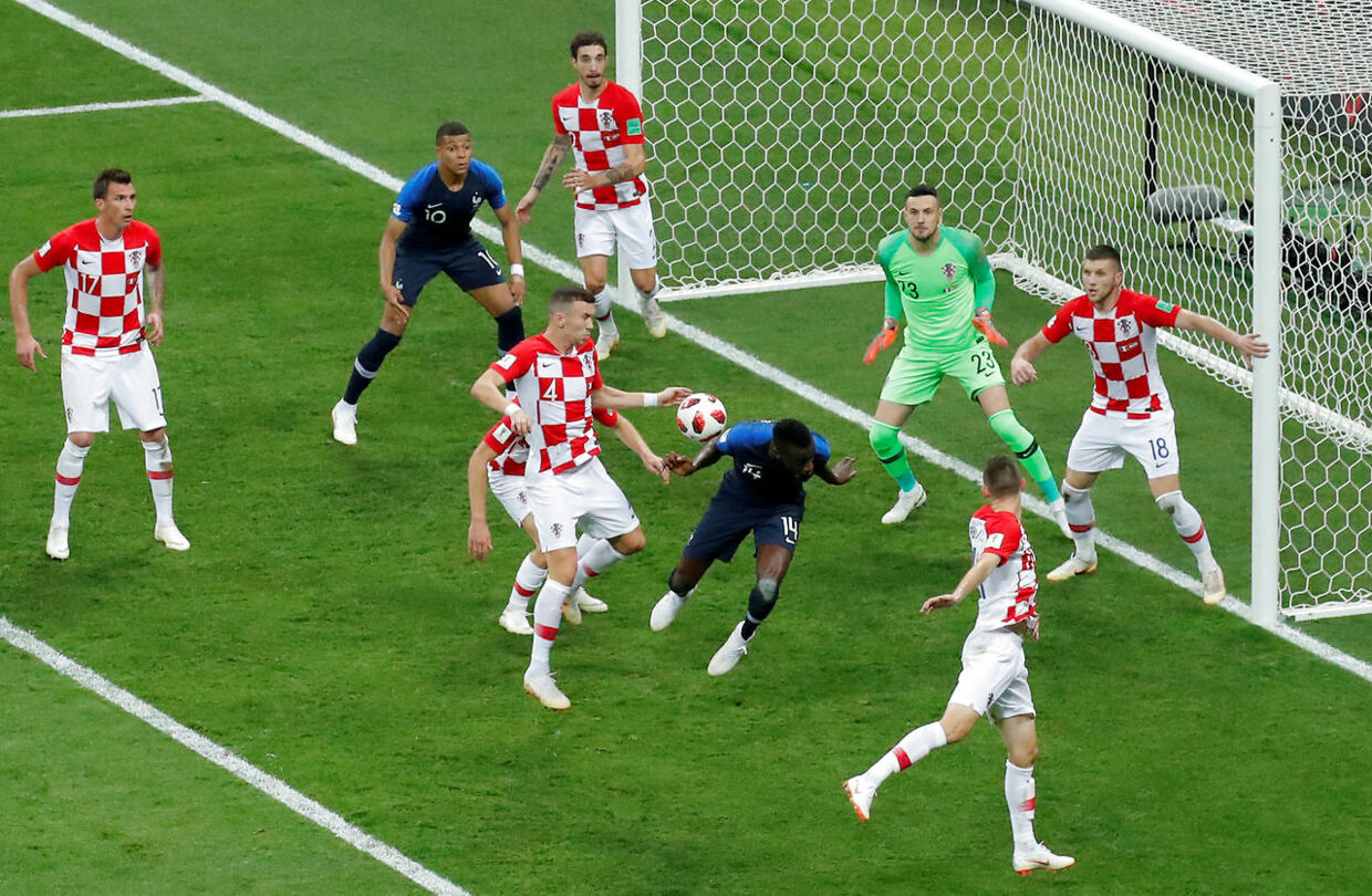 Soccer Football - World Cup - Final - France v Croatia - Luzhniki Stadium, Moscow, Russia - July 15, 2018 Croatia's Ivan Perisic handles the ball in the area leading to a VAR review and subsequently a penalty REUTERS/Maxim Shemetov