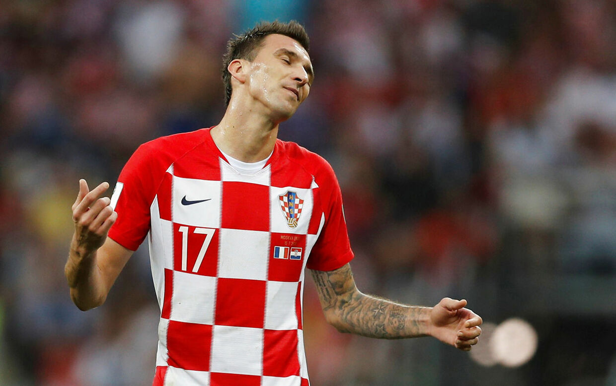 Soccer Football - World Cup - Final - France v Croatia - Luzhniki Stadium, Moscow, Russia - July 15, 2018 Croatia's Mario Mandzukic reacts during the match REUTERS/Darren Staples