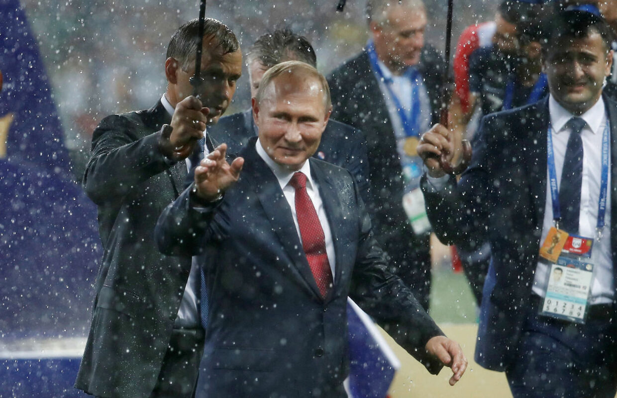 Soccer Football - World Cup - Final - France v Croatia - Luzhniki Stadium, Moscow, Russia - July 15, 2018 President of Russia Vladimir Putin on the pitch after the medals ceremony REUTERS/Damir Sagolj
