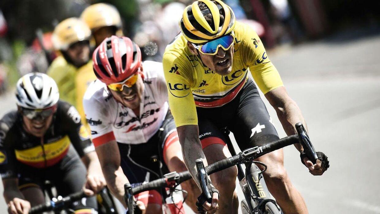 Belgiske Greg Van Avermaet (th) har forlænget med det amerikanske cykelhold.