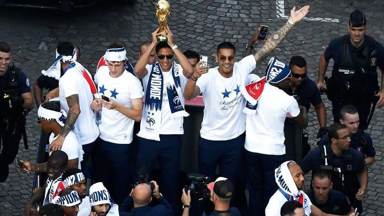 De franske spillere er ankommet til Paris.