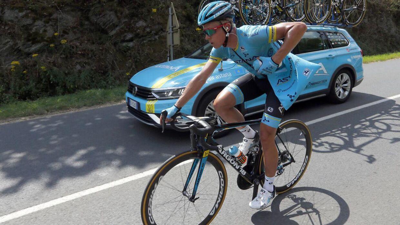 Danske Michael Valgreb under den sjette etape den 12. juli.