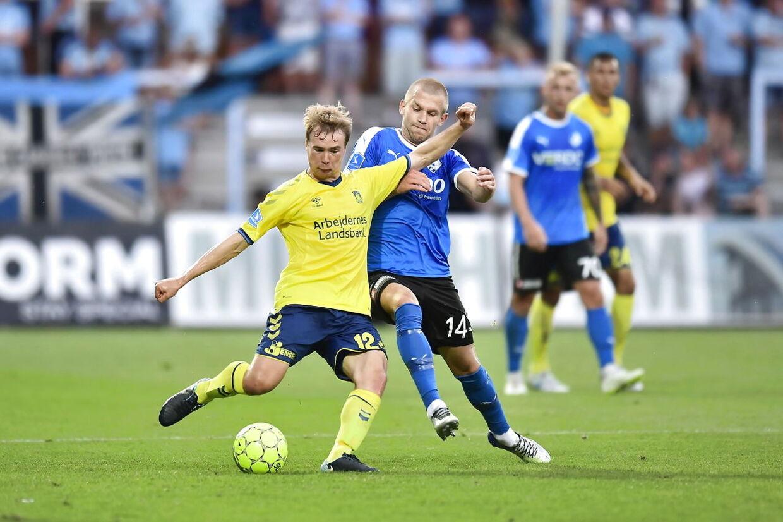 Randers FC-Brøndby IF, Alka Superligakampen på BioNutria Park Randers, mandag den 16 juli 2018.