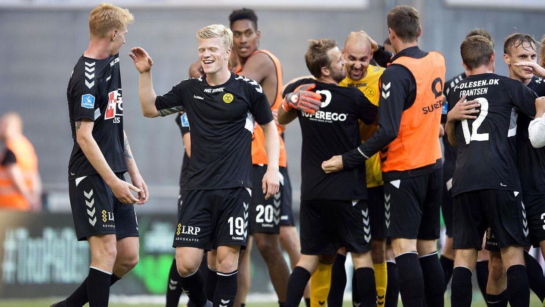 Det var AC Horsens, der løb med sejren over FCK.