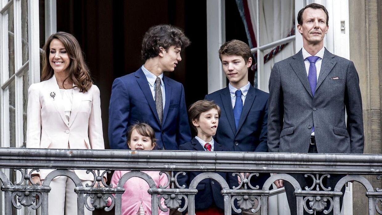 (ARKIV) Prinsesse Marie, prinsesse Athena, prins Nikolai, prins Henrik, prins Felix og prins Joachim.