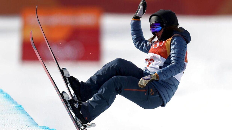 Laila Friis-Salling i aktion ved OL i Sydkorea i februar i år.