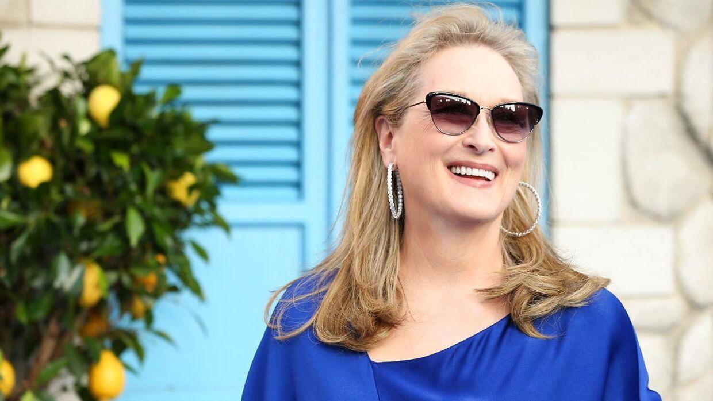 Meryl Streep ved verdenspremieren på 'Mamma Mia! Here We Go Again!'. Meryl Streep spiller i filmen den excentriske Donna.