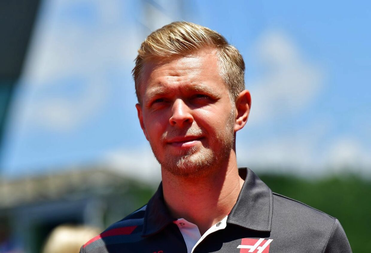 Haas F1's Danish driver Kevin Magnussen arrives prior to the Austrian Formula One Grand Prix in Spielberg, central Austria, on July 1, 2018. / AFP PHOTO / Andrej ISAKOVIC