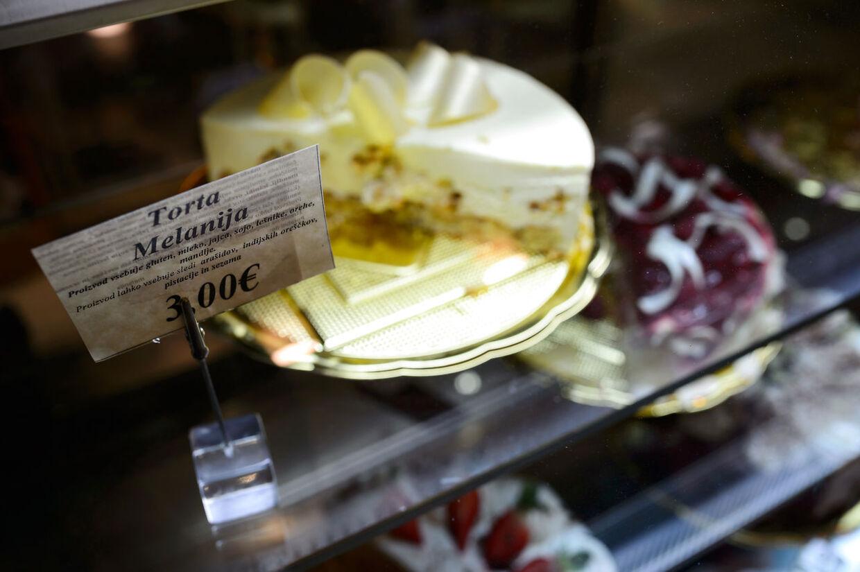 I byen Sevnica serveres der Melania-kage opkaldt efter USAs førstedame, Melania Trump.