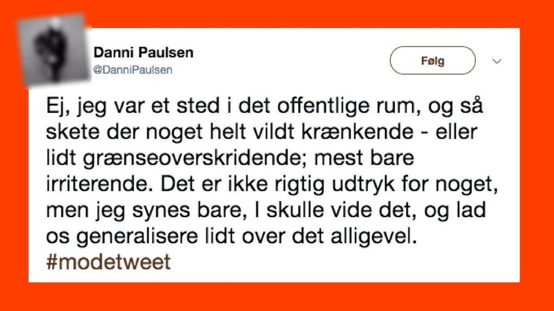 Danni Paulsens tweet.