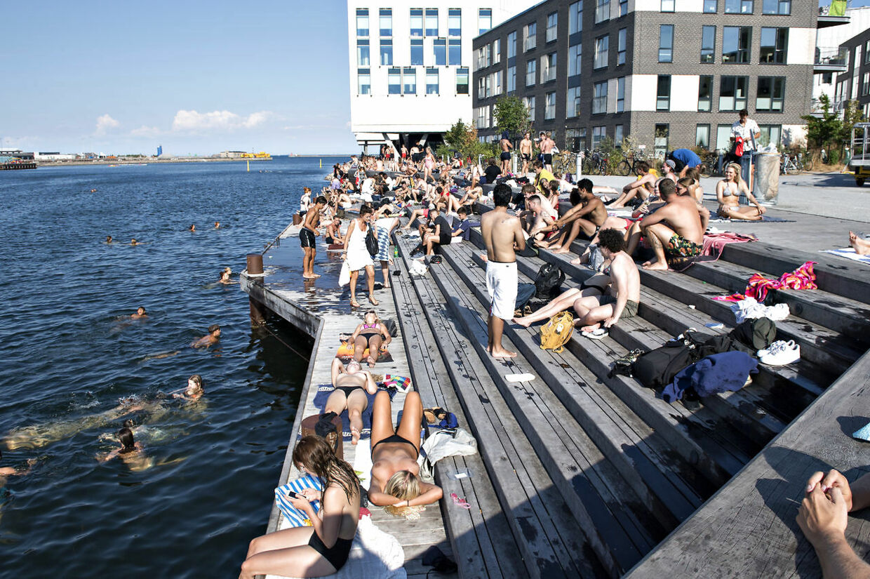 Marmormolen ved Kalkbrænderihavnen på Østerbro onsdag den 25. juli 2018.