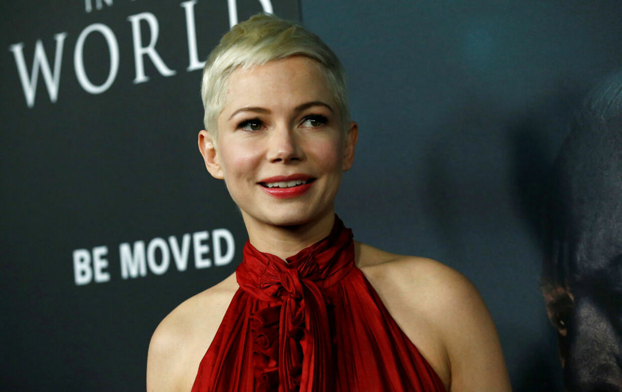 Michelle Williams. Golden Globe-uddelingen. Den 18. december 2017.