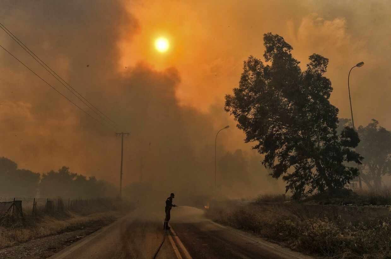 En enorm naturbrand i området omkring Athen kostede den 23. juli 80 mennesker livet.