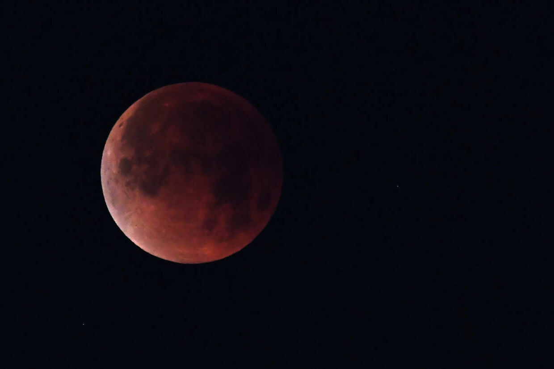 Den såkaldte blodmåne - fuld måneformørkelse - sker kl. 21.16 i nat.