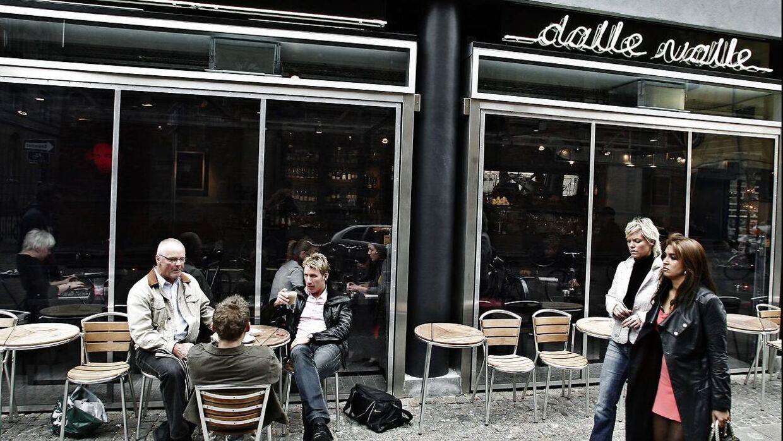 Café Dalle Valle i det gamle Daells Varehus i Nørregade i København – som var kædens første restaurant.