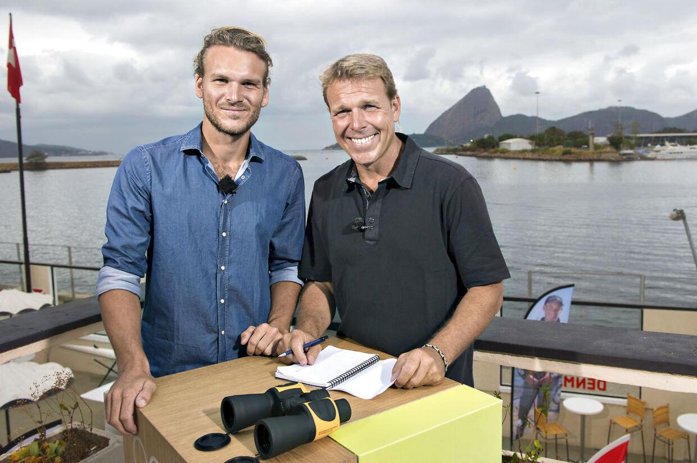 Mikkel Beha Erichsen og sønnen Emil Midé Erichsen under OL i Rio de Janeiro 2016.