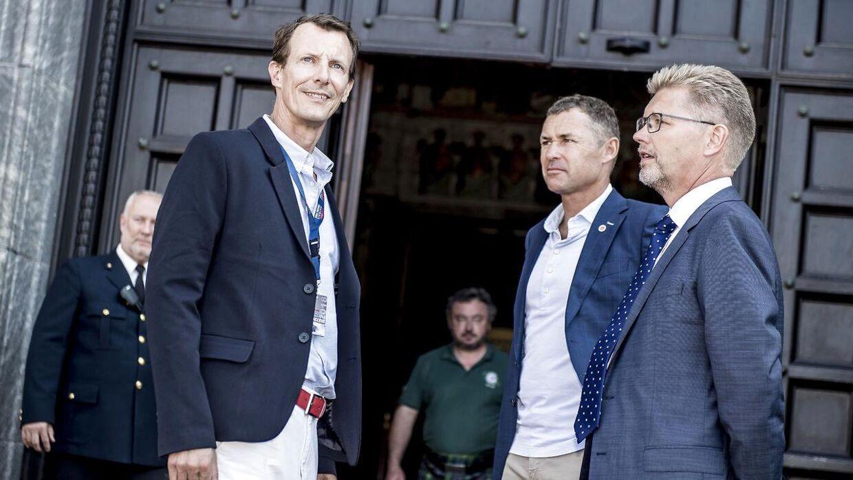 Prins Joachim, Tom Kristensen og overborgmester Frank Jensen under Copenhagen Historic Grand Prix' åbningsreception på Københavns Rådhus. Løbet finder sted den 4. til den 5. august 2018.