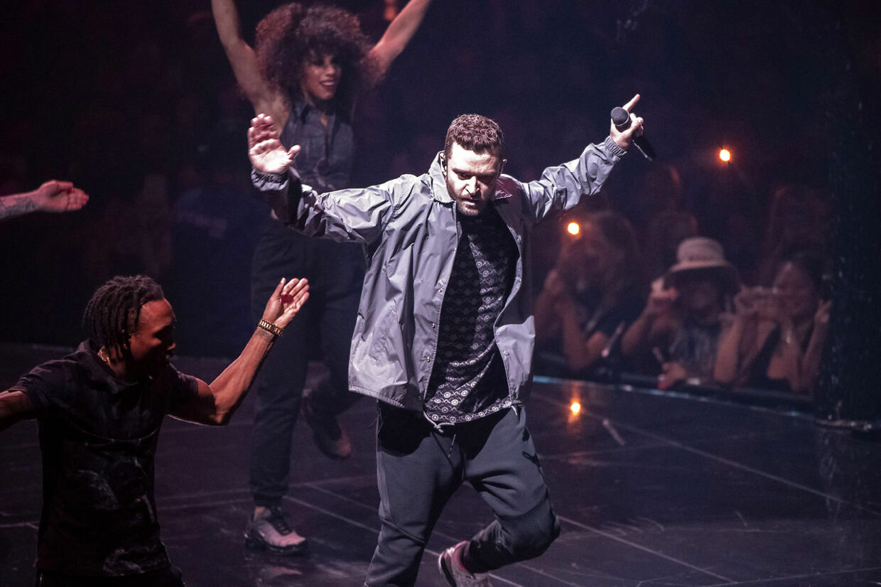"""On August 4th 2018 Justin Timberlake played Copenhagen's Royal Arena as part of his """"The Man of the Woods Tour"""". The concert has been received very differently by critics and fans since the professional reviews of the concert calls it a boring extravaganza with way too many effects and too little actual content as well as knocking the very poor sounds that is called """"grotesque"""" and Timberlake's singing as pitchy. Though fans are hardly agreeing as they call it the best concert in a long time and state they had a blast and are very happy with the setlist. . (Foto: Nils Meilvang/Ritzau Scanpix)"""
