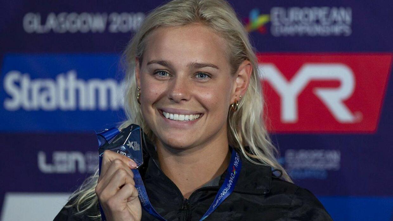 Pernille Blume har ellers vist strålende form ved EM i Glasgow og vandt lørdag sølv på 50 meter fri.