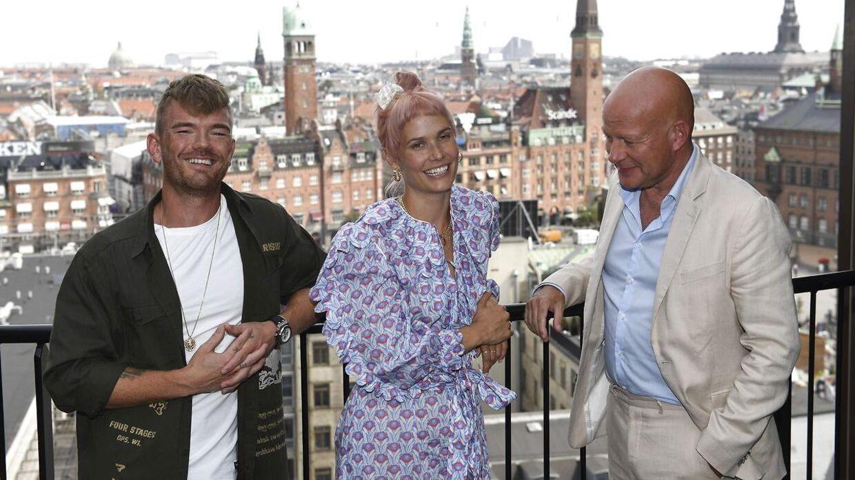 Popproduceren Ankerstjerne og sangerinden Oh Land samt Thomas Blachman.