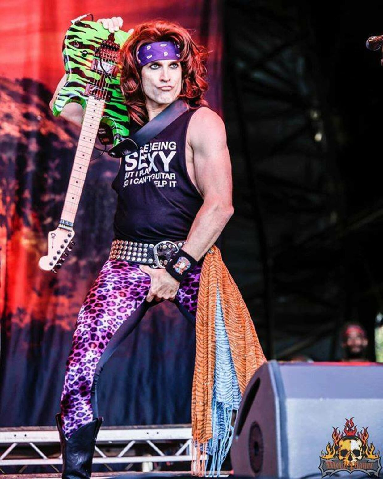 Russell 'Satchel' Perrish fra bandet Steel Panther