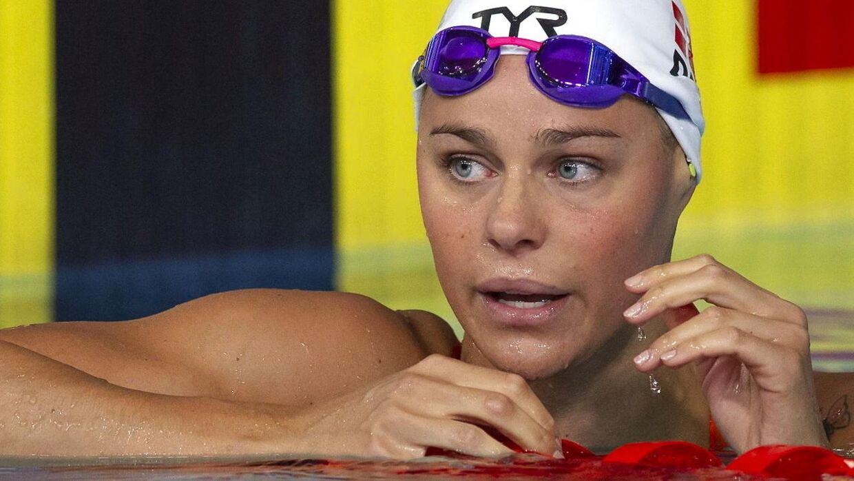 Pernille Blume svømmede for Danmark i medley-finalen ved EM.