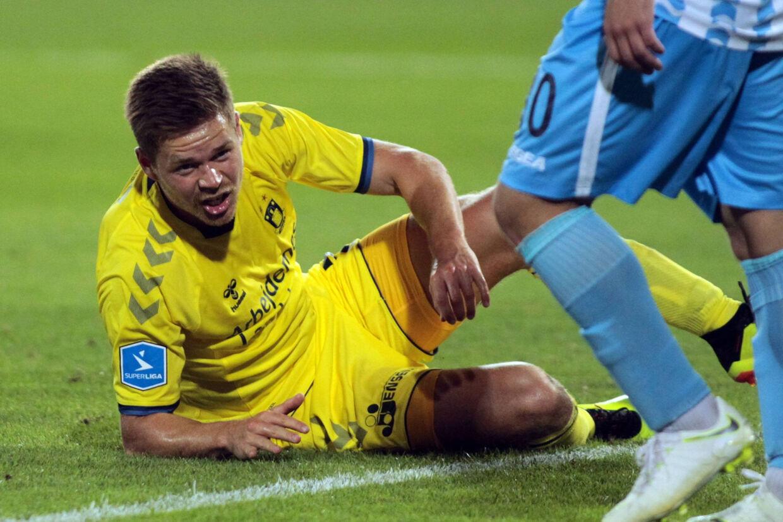 Dominik Kaiser scorede sit første Brøndby-mål i udesejren over Spartak Subotica. Scanpix