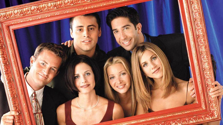 David Schwimmer blev verdenskendt for sin rolle som Ross Geller i den amerikanske sitcom 'Friends'. Her ses han med resten af holdet fra serien.