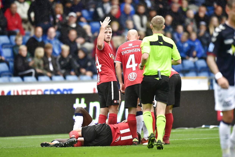 Superligakampen mellem Randers FC og AGF på Bionutria Park Randers, søndag den 12 august 2018.