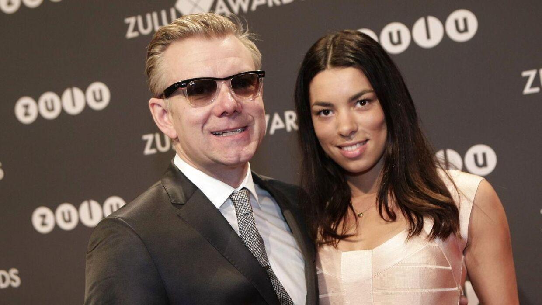 Casper Christensen og kæresten Isabel Friis Mikkelsen ankommer til Zulu Awards torsdag d. 8 marts 2012 i København. (Foto: Martin Sylvest Andersen/Scanpix 2012)