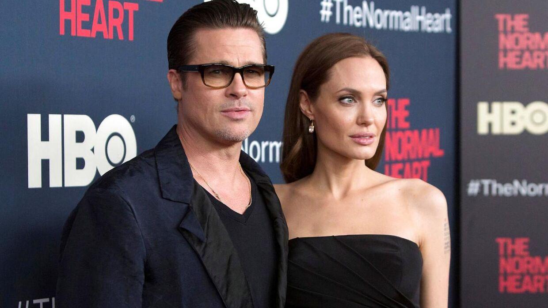 Skuespillerne Brad Pitt og Angelina Jolie i 2014. Dengang var de Hollywoods hotteste par. REUTERS/Andrew Kelly/File Photo