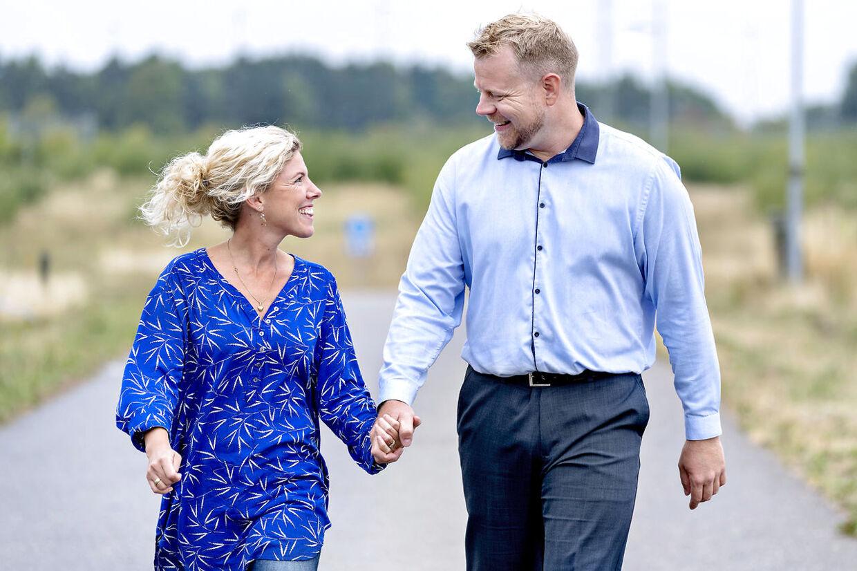 Mikkel Søholm Vestergaard og hans kone, Mette.