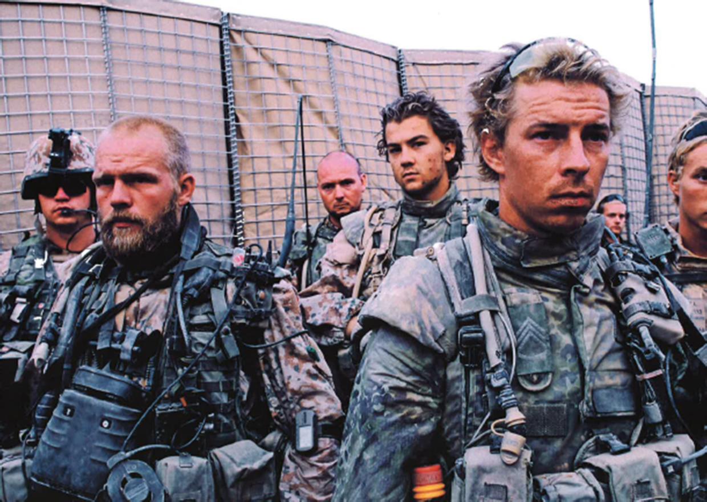 Odin-kompagniet på vej på patrulje.