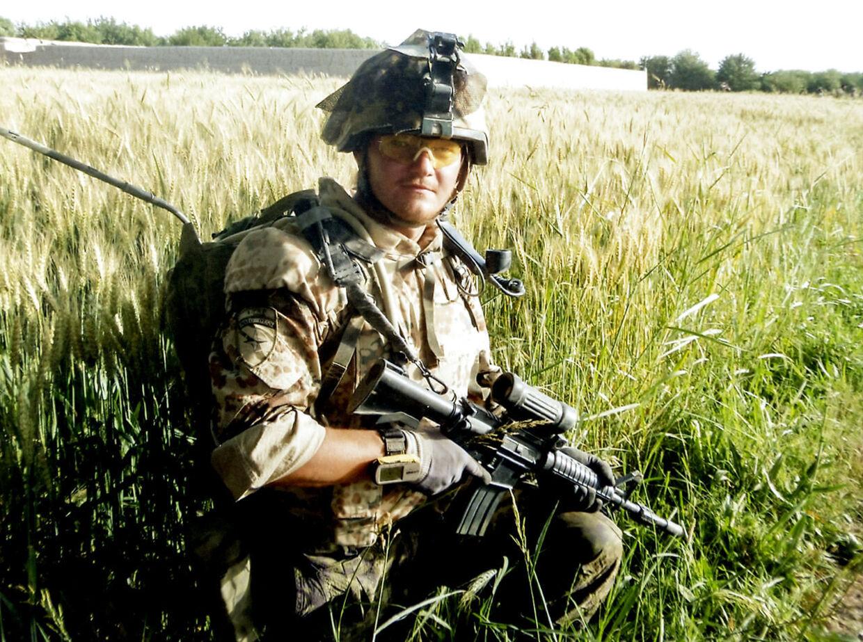 Claus Hauge Kristensen med på patrulje i den grønne zone. (PRIVATFOTO)