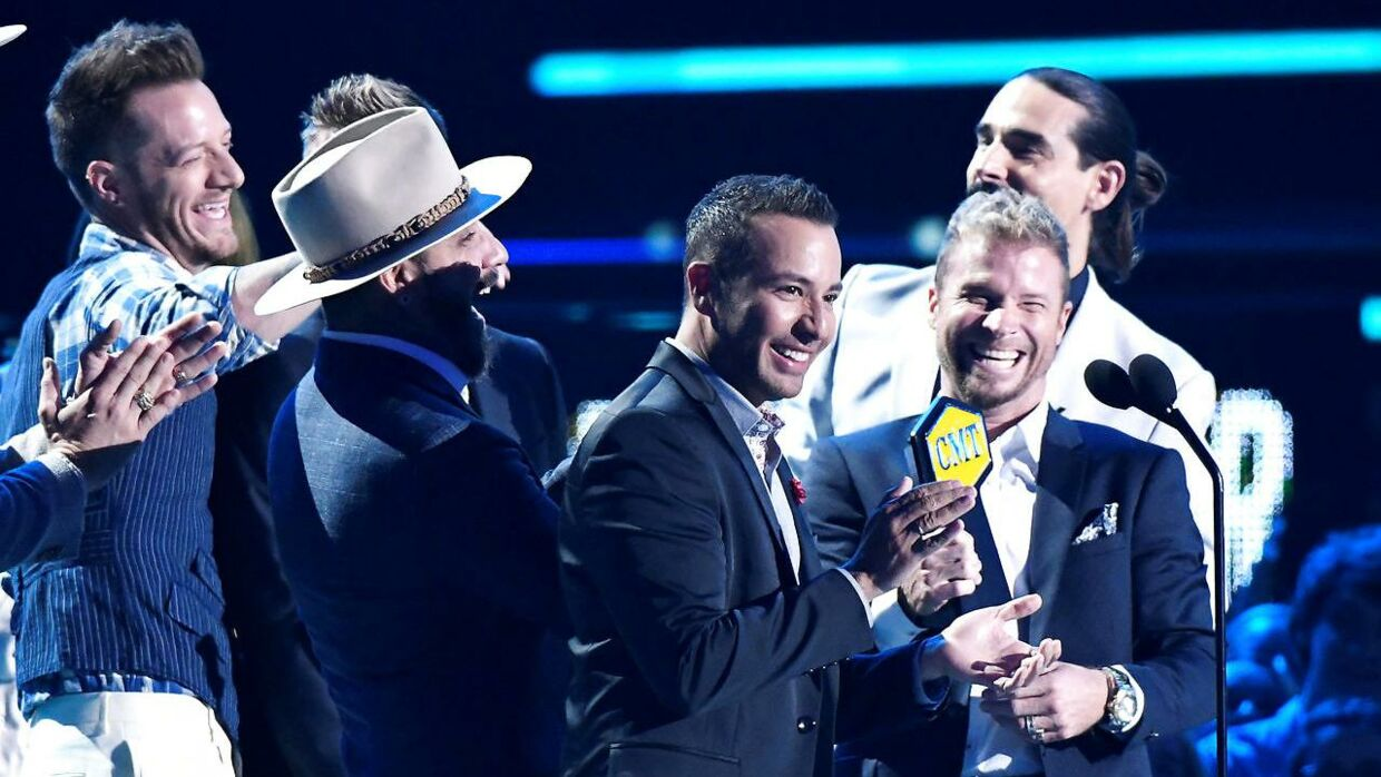 Backstreet Boys ses her til Music Awards i juni i år.