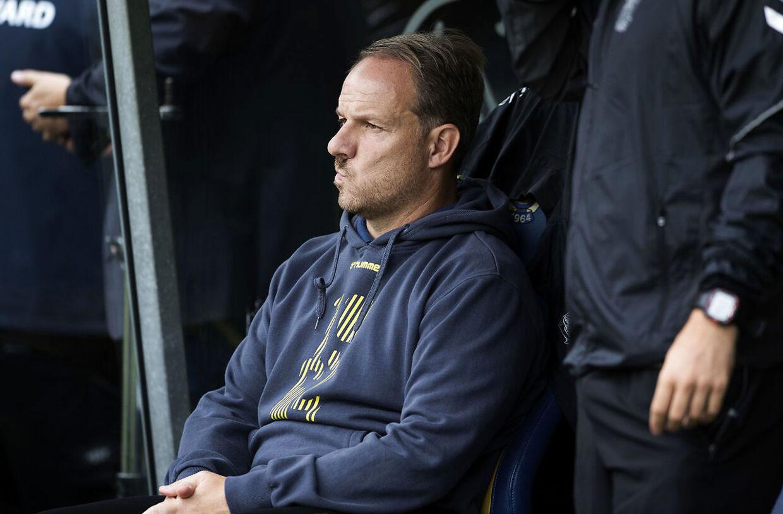 Cheftræner Alexander Zorniger under Superligakampen på Brøndby Stadion mellem Brøndby IF og Esbjerg fB, søndag den 19. august 2018. (Foto: Claus Bech/Scanpix 2018)
