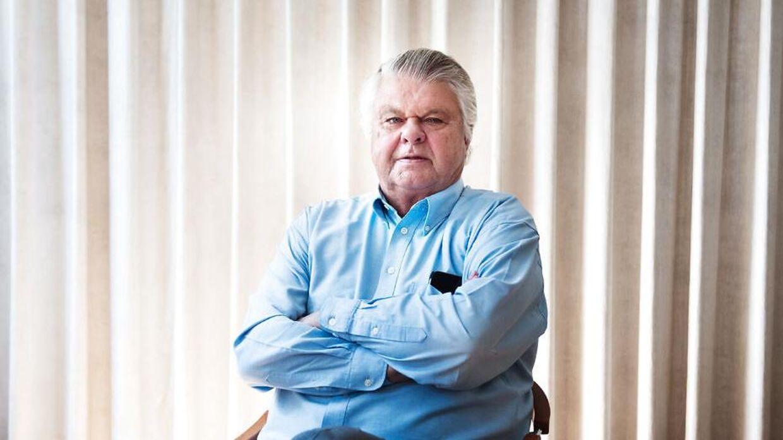 Finansmanden Christian Kjær fotograferet i sit kontor i Hørsholm, blot få meter fra hjemmet Sandbjerggaard.