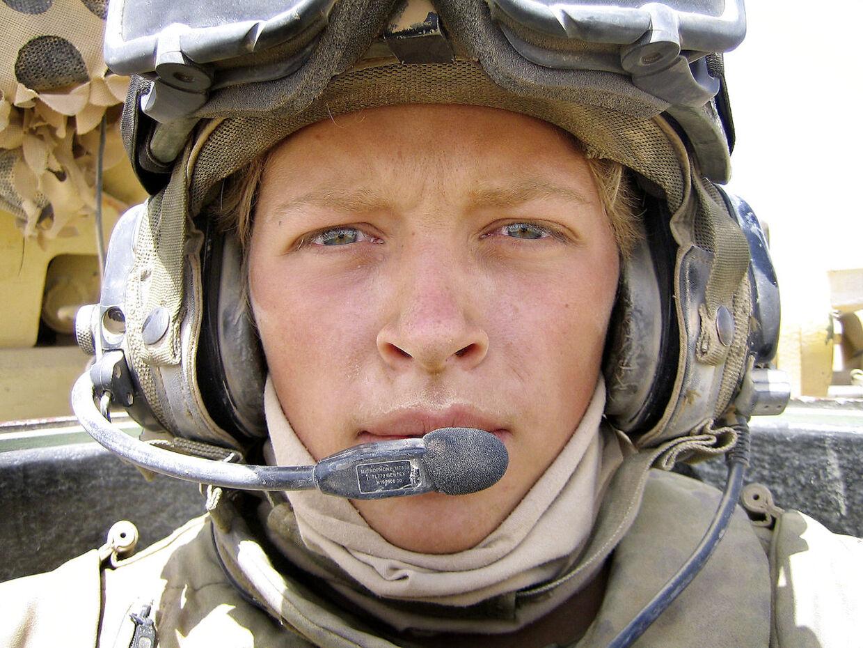 En 22-årig Camilla Clemmensen i Afghanistan med Odin Kompagniet. (PRIVATFOTO)