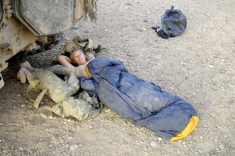Det sidste foto af Camilla Clemmensen fra Afghanistan. Dagen efter blev hun indlagt med sprængt blindtarm. (PRIVATFOTO)