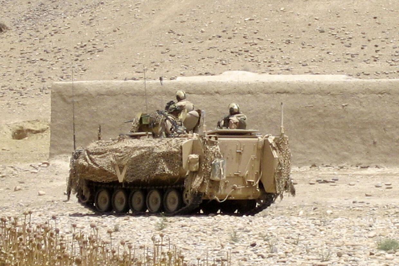 Med på patrulje i den grønne zone. (PRIVATFOTO)