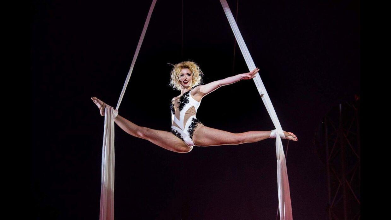 Tetiana Korenievahar arbejdet med cirkusakrobatik, siden hun var 10 år. De sidste år har hun udført luftakrobatik i cirkus forskellige steder i Europa.