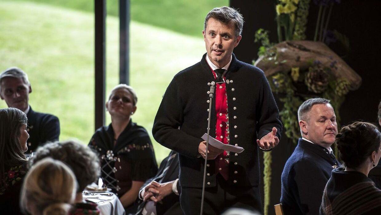 Kronprins Frederik holdt tale under middagen i Nordens Hus.
