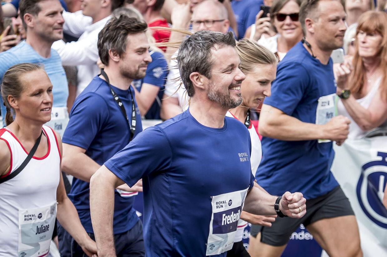 Kronprins Frederik deltog naturligvis Royal Run i forbindelse med sin fødselsdag.