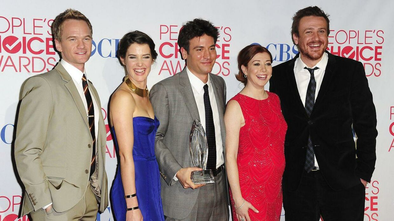 Stjernerne fra 'How I Met Your Mother'. Fra venstre Neil Patrick Harris, Cobie Smulders, Josh Radnor, Alyson Hannigan og Jason Segel.