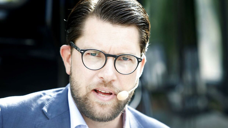 Sverigedemokraterna står med partileder Jimmie Åkesson i front til at få partiets bedste riksdagsvalg.